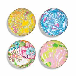 4pk Porcelain Round Appetizer Plate Set - Lilly Pulitzer for