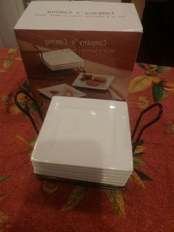6 Appetizer Plates With Stand