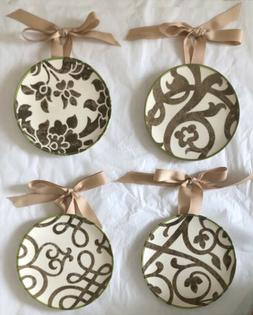 Southern Living 7in Plate Set of 4 Dessert PLUS Hangers TERR