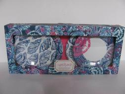 LILLY PULITZER APPETIZER PLATES - GYPSEA GIRL BLUE / WHITE /