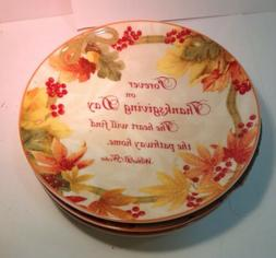 Autumn Celebration Thanksgiving Day Set Of 4 Scripted Appeti