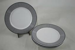 Ciroa Black Dots on White Appetizer Bread Small Side Plates