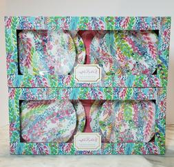 Lilly Pulitzer Catch the Wave Melamine Appetizer Plates Set