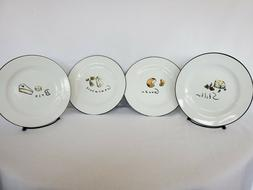 """POTTERY BARN """"CHEESE""""   STONEWARE 7 INCH APPETIZER PLATES SE"""