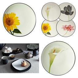 Colorwave 6.25 in. Graphite Floral Appetizer Plate