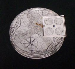 222 Fifth DUE NORTH Gray Appetizer Snack Plates  NEW Set of