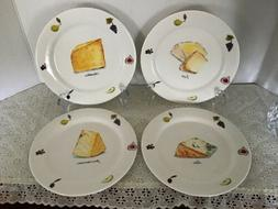 """Federated The Cellar Set 7.5"""" Appetizer Plates Cheese Brie C"""