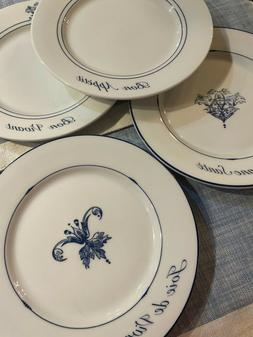 """Williams Sonoma French Bistro Appetizer Plates Set of 4  8"""""""