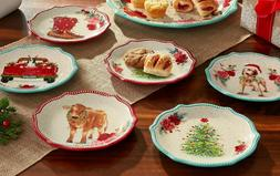 Pioneer Woman Holiday Medley Appetizer Plate Set 6 plates De