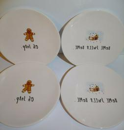 Rae Dunn Home Sweet Home Oh Snap Appetizer Plates Set Of 4