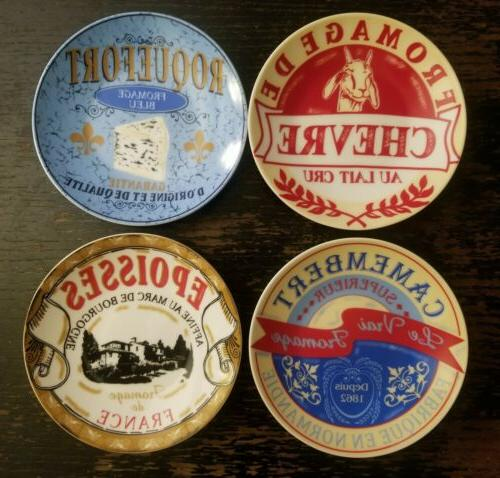 french cheeses 6 porcelain appetizer dessert plates