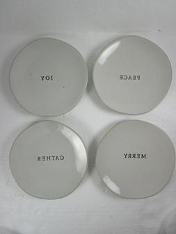 """NEW Stoneware HEARTH AND HAND WITH MAGNOLIA SET OF FOUR 6"""" A"""