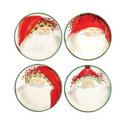 VIETRI OLD ST. NICK Assorted Canape Plate set of 4