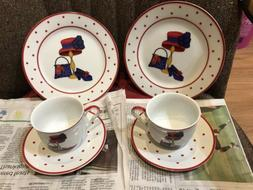 Red Hat Society Polka Dot.A Special Place. 2 Sets of Appetiz