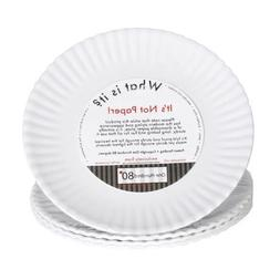 """""""What Is It?"""" Reusable White Appetizer or Dessert Plate, 6 I"""