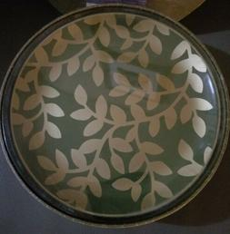 Age of Elegance Set of 4 Appetizer Plates Green & Gold New