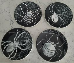 """Set of 4 Pottery Barn """"Arachnid"""" Appetizer Plates, """"AS IS"""","""
