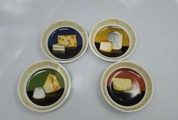 Set of 4 CHEESE APPETIZER SAUCE PLATES, DIPPING BOWLS by Cyp