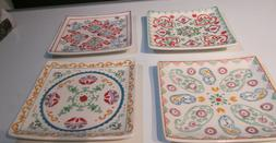set of 4 different square moroccan theme