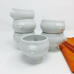 Set of 6 Small Lion Head Bowls  for Soup Appetizers or Snack