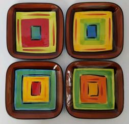 Set of 8 GAIL PITTMAN Southern Living Colorful BRIO APPETIZE