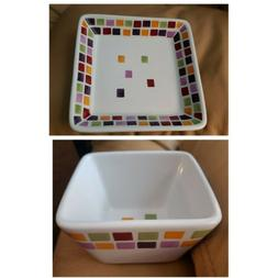 Pampered Chef Simple Additions Appetizer Plate & Dip Bowl -