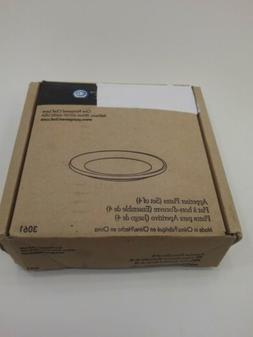 Pampered Chef Simple Additions Appetizer Plates qty 4 White