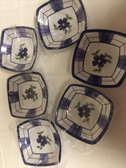 Small Appetizer Plates/Bowls-Set Of 6