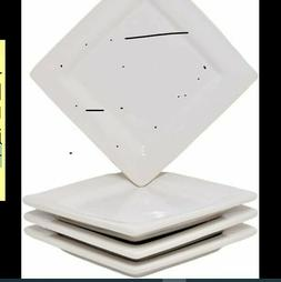 Small Square Appetizer Plates Set of 4